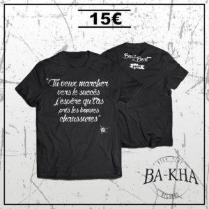 Tee shirt noir Boxe le beat - Bakha